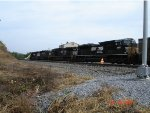 NS 2687 & NS 9806 being helped by a pair of SD40-2's EB
