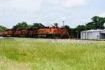 BNSF 6841 passing BNSF #6549 (DPU) BNSF #7155 (DPU) BNSF #5750 (DPU)