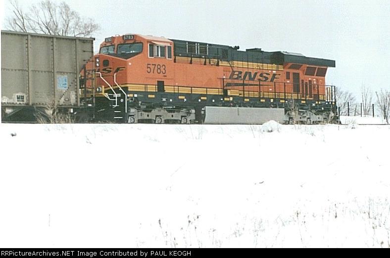 BNSF 5783 a rear DPU unit on a coal train