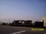 Pulling 4 tank cars from the siding
