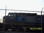 CSX 7908 with a little conrail blue