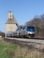 350 accelerates toward 110mph as it leaves town on the Michigan Line