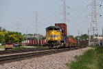 UP 8866 begins to pull west