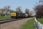 Three GE's roll south on the Villa Grove Sub with Q645