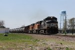 NS 9249 leads loaded oil train 66Z east through Momence on the Kankakee Belt