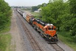 BNSF 2014 & 2335 lead a short local east on the Chilli Sub