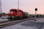 CP 3025 provides the power for B75 as it works West Davenport Yard