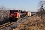 ET44AC's 3088 & 3064 roll M345 north toward Fond du Lac