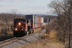 CN 2323 passes milepost 132 as it heads north with Q191