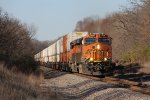 BNSF 7896 & 6710 head east as the climb out of the Rock River valley