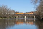 BNSF 6040 & 3789 roll quickly over the Rock River with Z-STPCHC