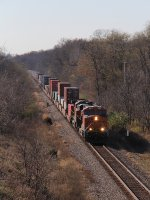 S-TACLPC heads east outside Polo at milepost 113
