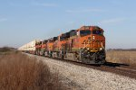 BNSF 3884 leads the Z-LACWSP9 east toward Chicago