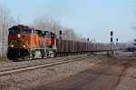 BNSF 5047 leading an empty Keetac through West Saunders