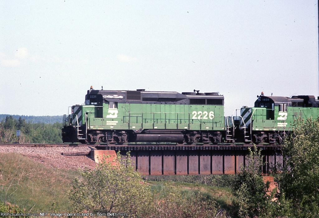 BN northbound manifest train to Superior
