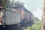 Soo Line Northbound manifest train north of Gordon, WI