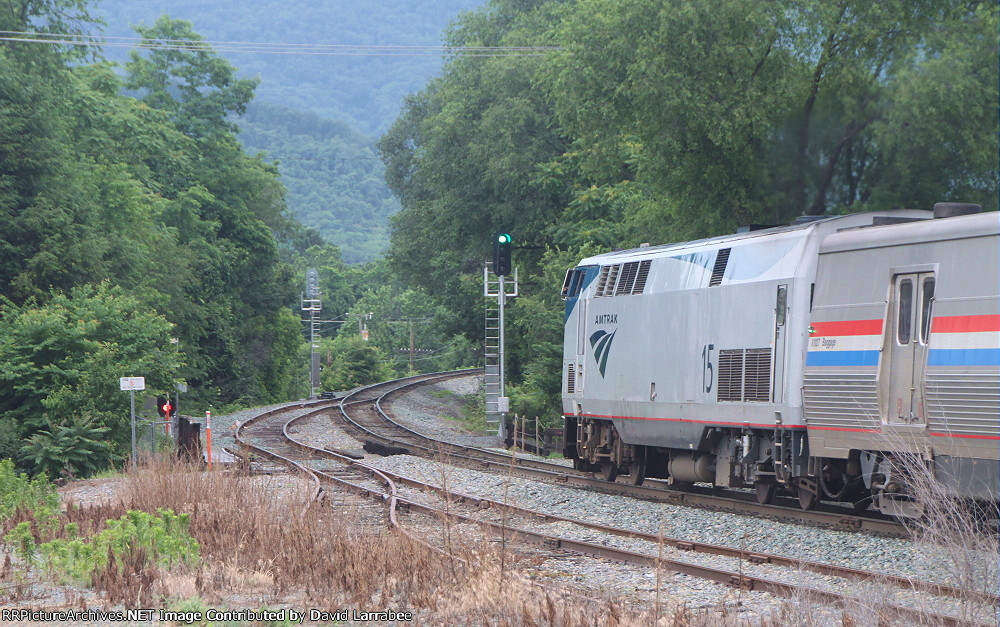 AMTK 15 approaching 'CP West Crozet'