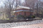 This was an old gas metering station that was moved to Barnesville in 1980 and now serves as a commuter waiting station