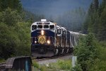 Rocky Mountaineer approaches Banff
