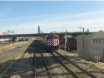 Passing Metra Train