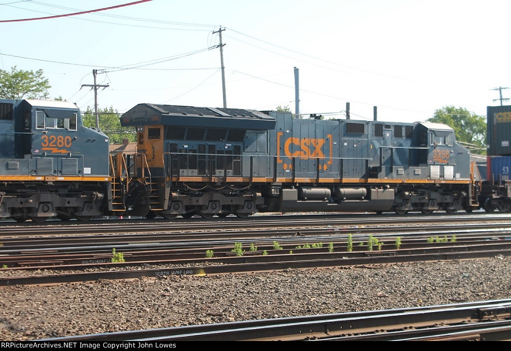 An eastbound intermodal