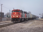 CN 5517 & 5444 Backing Into The Yard