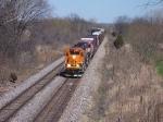 BNSF 8017 & 9599 Westbound
