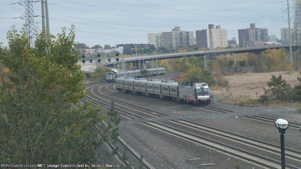 NJT Trains Race to Hoboken