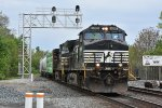 NS 9689 Rolls over the Csx at Marion Ohio.