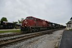 CP 9367 Drag's a freight on the Fostoria District.