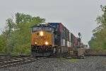 CSX 3395 brand new Gevo leads a stack west.