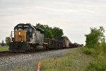 CSX 8052 Leads a work train west down the Willard Sub.