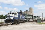University of Kentucky unit #1998 and two other GP38-2's switch the West end of Oak St Yard.