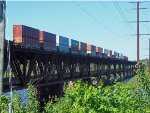 CN 2831 and CN 8024 on the Oliver Bridge