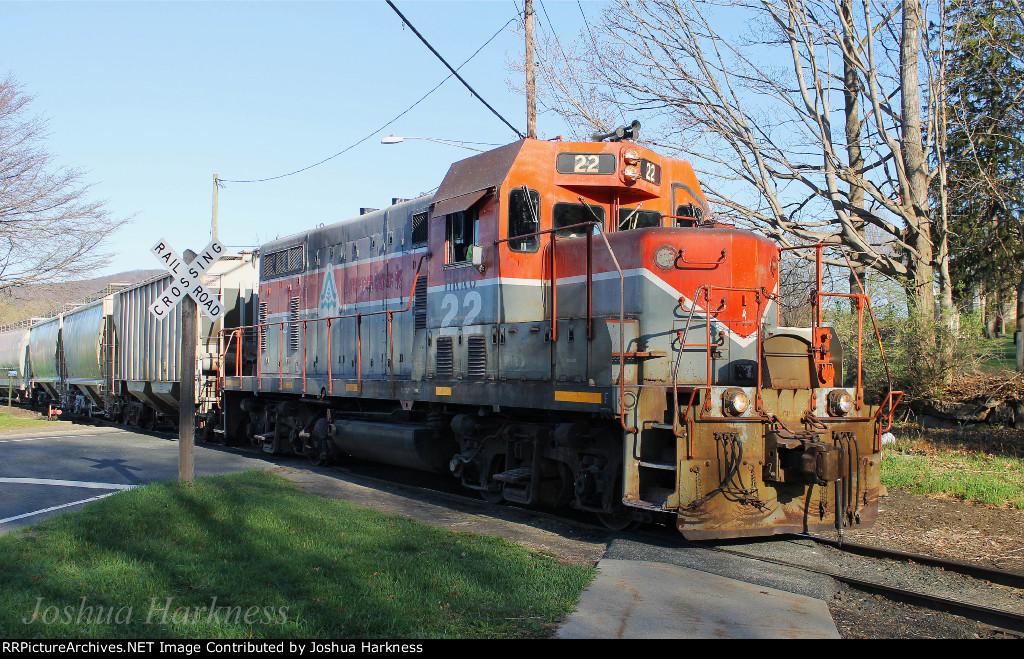 Housatonic Railroad NX-11 at Main Street