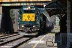 Housatonic Railroad NX-12 Racing Past Stockbridge Depot
