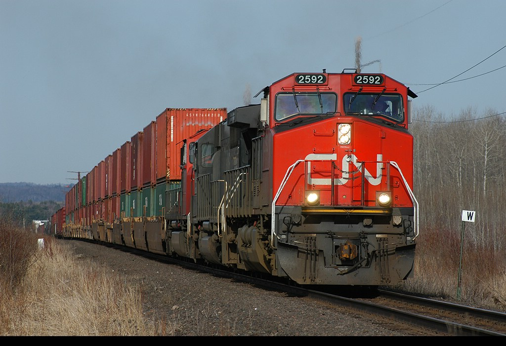 CN 2592 leads 340 towards Pokey Yard