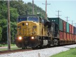 Ex-UP SD90MAC leads an intermodal train west