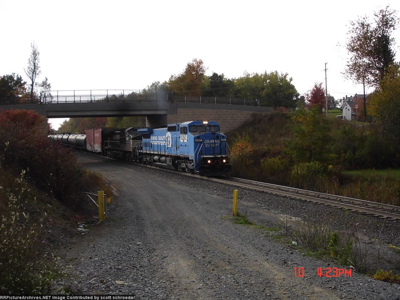 """NS 8393 & NS 9307 about to head down """"The Slide"""""""