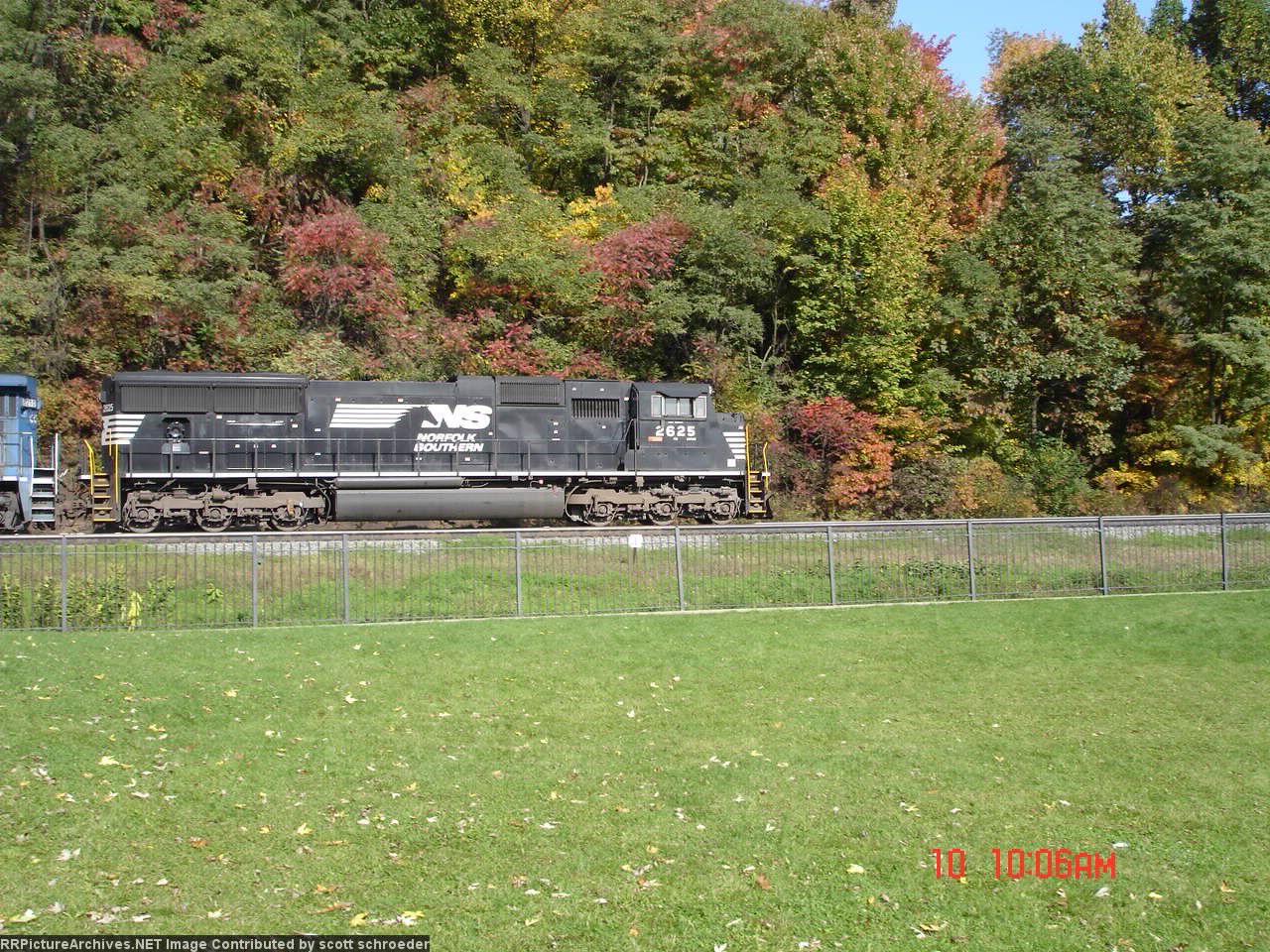 NS 2625 heading downgrade towards Altoona
