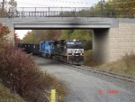 "NS 9549 & NS 6742 heading towards ""The Slide"" with an empty coal drag"