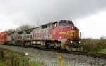 NS 236 passes under overcast skies