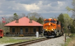 NS 135 passes the old depot