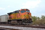 BNSF 4154 DPU on an empty gravel train