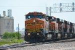 BNSF 609 grain train