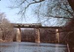 Crossing the Monocacy River bridge