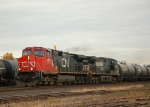 CN 399 arriving for a 40 car setout