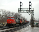 CN 391 arriving for a Crew change