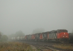CN 398 in the heavy morning fog