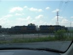 "CSX ""mother & slug"" pair rest @ CSX's Leewood Yard in North Memphis"